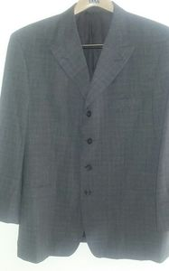 Men Pronto uomo gray 100% wool blazer